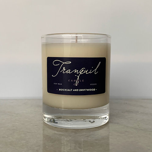 Rock Salt and Driftwood Candle