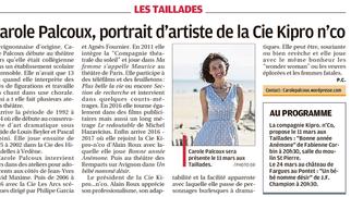 Carole Palcoux, portrait d'artiste de la Cie Kipro... n'Co