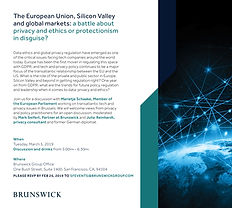 Privacy event with MEP Schaake - March 5