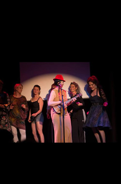 Evie Lake with Tricity Vogue and Tracey Smith, Cabaret Playroom, May 2018