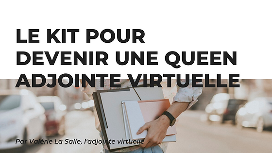 Kit pour devenir adjointe virtuelle