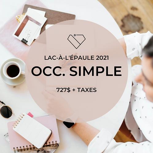 Occ. Simple - Lac-à-l'épaule Mai 2021