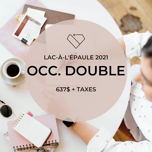 Occ. Double - Lac-à-l'épaule Mai 2021