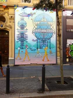 Bâche Next City rue de la République