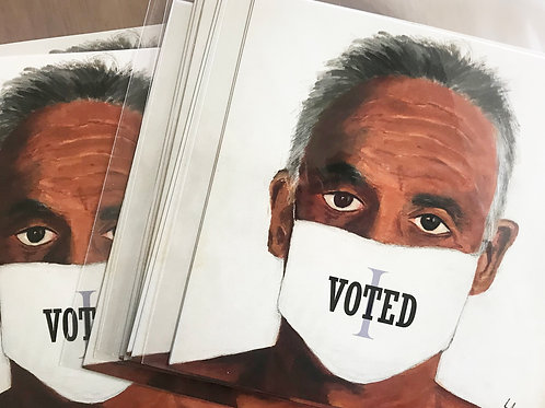 'I VOTED' Postcards - Check-in with your loved ones.