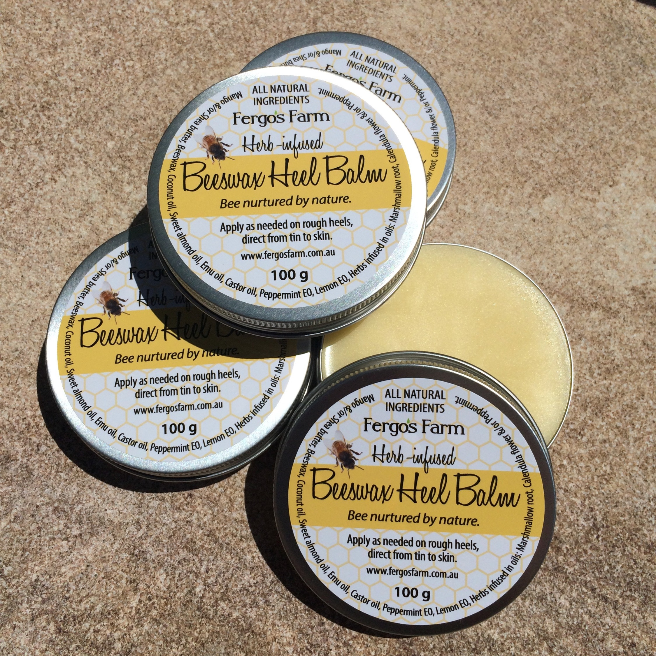 Herb-infused Beeswax Heel Balm