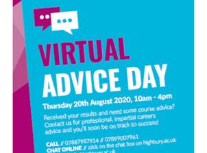 Highbury College Virtual Advice Day - 20 Aug