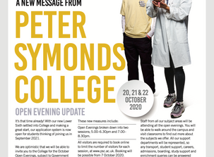 Peter Symonds Open Evening Update