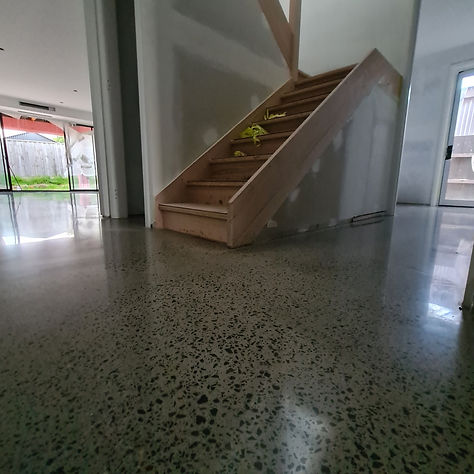 GALAXY Concrete Polishing & Grinding | Polished Concrete | Semi Gloss finish Full stone exposure | Airport West Melbourne VIC