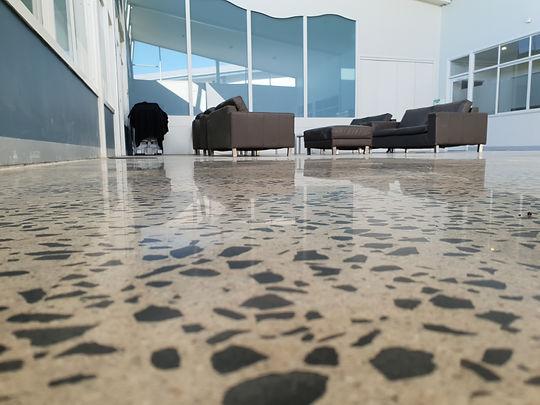 GALAXY Concrete Polishing - Commercial - Polished Concrete Matte finish - Full Stone exposure - Melbourne
