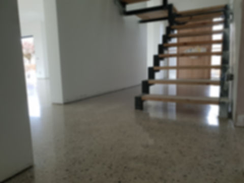 Polished Concrete - Semi Gloss finish - Full stone exposure -Bentleigh VIC - GALAXY Concrete Polishing & Grinding