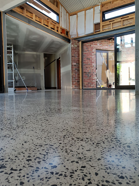 Polished Concrete in Matte finish with f