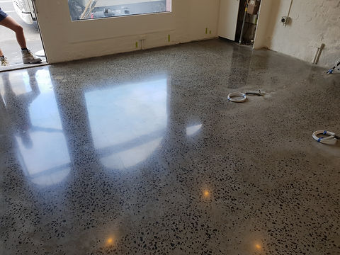 Polished Concrete  - Galaxy Concrete Polishing & Grinding - Retail Shop Smith St Fitzroy VIC