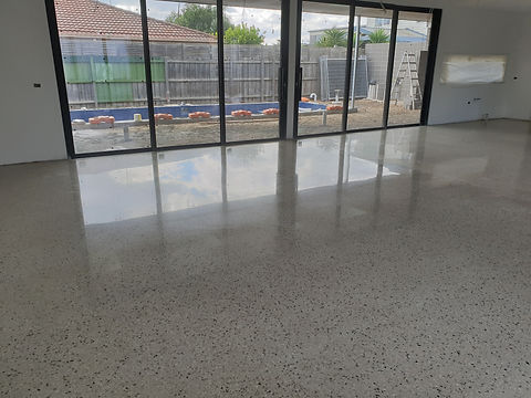 GALAXY Concrete Polishing & Grinding | Polished Concrete | Semi Gloss finish Full stone exposure | Bentleigh VIC