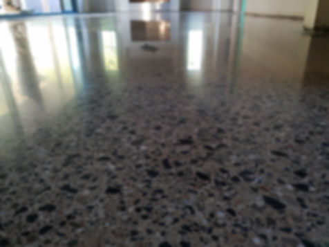 Polished Concrete - Satin Finish - Diamond Creek - GALAXY Concrete Polishing & Grinding