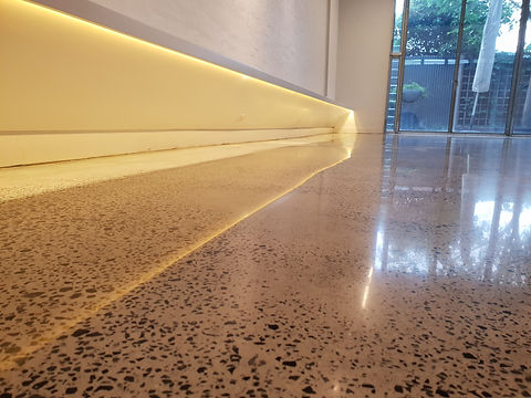 GALAXY Polished Concrete | Semi Gloss finish full stone exposure | Melbourne CBD by GALAXY Concrete Polishing & Grinding