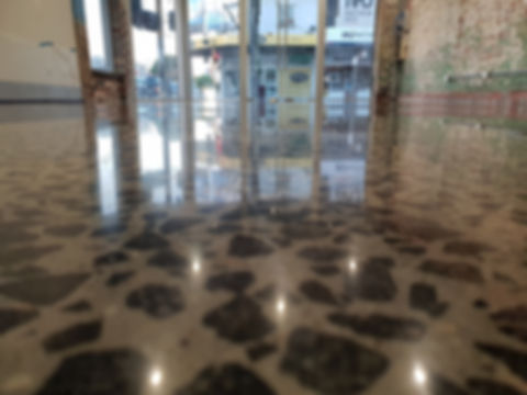 Polished Concrete Semi Gloss finish with full Stone exposure | GALAXY Concrete Polishing & Grinding