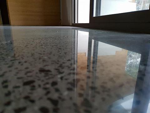 GALAXY Concrete Polishing & Grinding - Polished Concrete  in Semi Gloss finish with Random Stone exposure - Chewton Victoria