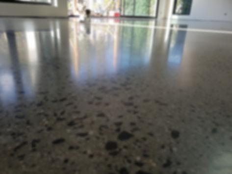 Polished Concrete Matte finish Random Stone Exposure - Moonee Ponds - GALAXY Concrete Polishing & Grinding
