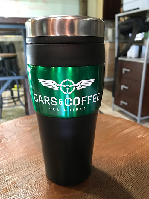 Cars and Coffee Travel Mug
