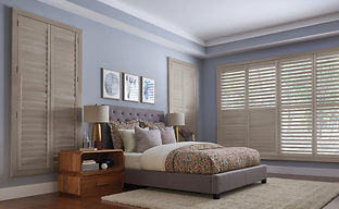 Wood shutter window treatments