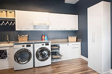 Custom laundry cabinets and custom storage