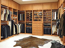Custom walk in closet storge system