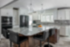 Kitchen design and compeleted kitchen remodel by Compelling Homes in Des Moines