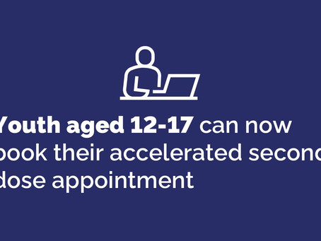 Youth Aged 12-17 Across Ontario Eligible for Accelerated Second Dose