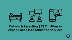 Ontario Expanding Support for Addictions Treatment Throughout the Province