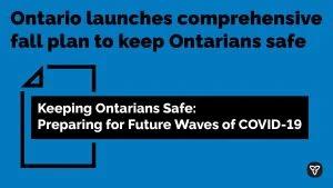 Ontario Delivers $2.8 Billion COVID-19 Fall Preparedness Plan