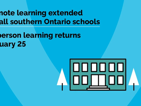 Ontario Extends Teacher-Led Online Learning Until January 25