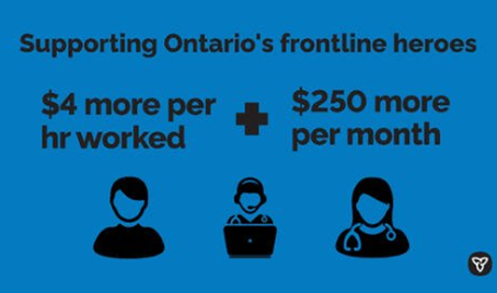 Ontario Supporting Frontline Heroes of COVID-19 with Pandemic Pay