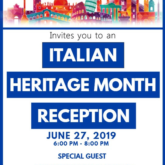 First Annual Italian Heritage Month Reception