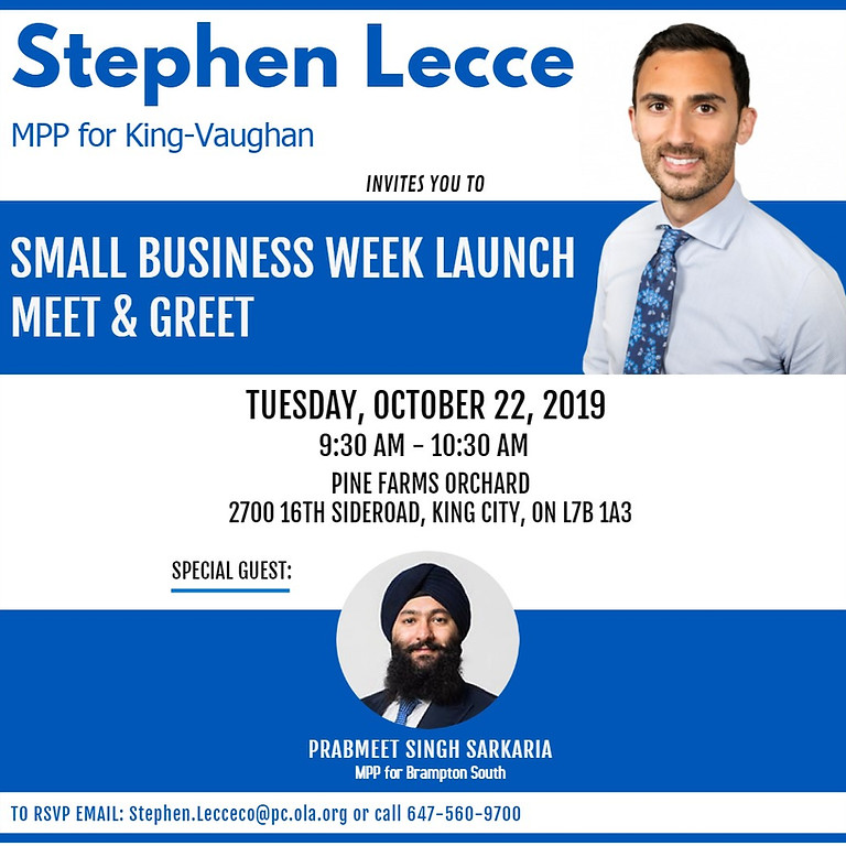 Small Business Week Launch Meet & Greet