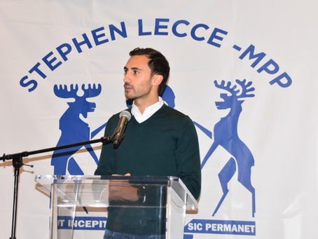 MPP STEPHEN LECCE HOSTS ANNUAL NEW YEAR'S RECEPTION