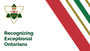 Province Honouring the Exceptional Achievements of 47 Ontarians