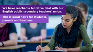 Government of Ontario Reaches Final Agreement with OSSTF