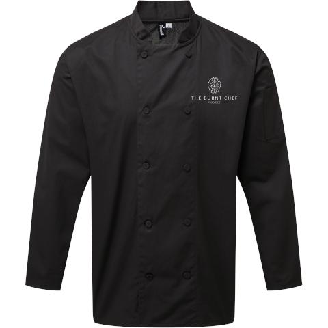 Longsleeve Coolchecker Chef's Jacket (Black)