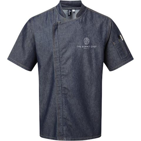 Premium Zipped Chef's Jacket (Denim)