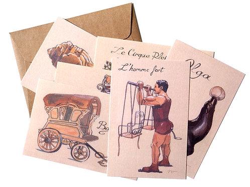 6 Cartes postales Le Cirque Plein d'Air