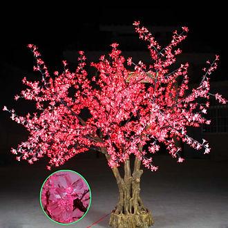 2052灯仿真树灯红、蓝、粉变色树实拍1,红色.JPG
