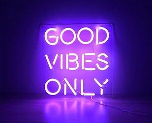 Good Vibes Only Custom Quote Neon Sign .