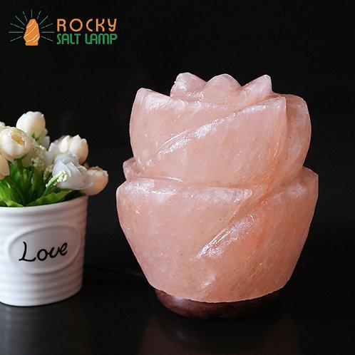 Rose flower Himalaya Natural Salt Lamp