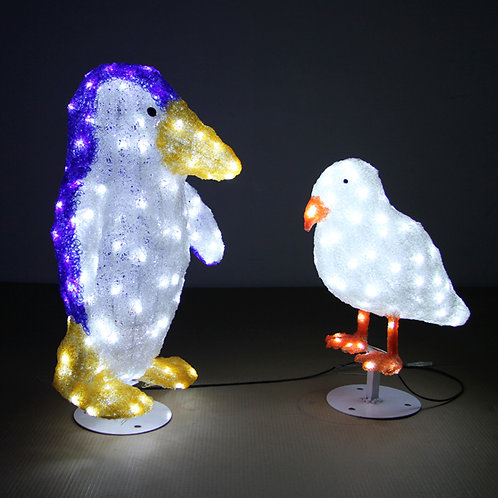 68cm high penguin, penguin modeling lamp blue + white