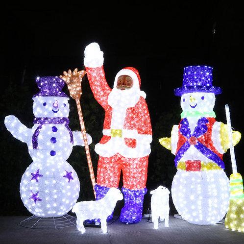 snowman Sculpt Landscape Light