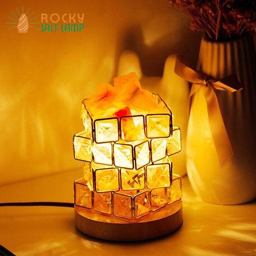 Rubik's Cube Himalaya Natural Salt Lamp