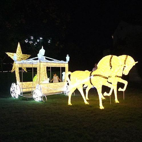 Horse-drawn carriage Sculpt Landscape Light