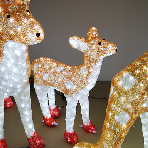 Deer family  Sculpt Landscape Light