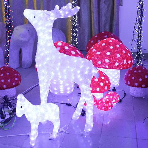 A pair of deer A pair of deer Sculpt Landscape Light